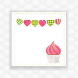 Cupcake and bunting background Royalty Free Stock Images