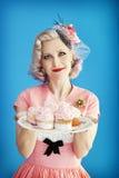 Cupcake Pinup stock photos