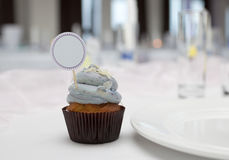 Cupcake with place card Royalty Free Stock Images