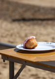 A cupcake on a plate Stock Image