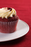 Cupcake on a plate Stock Photography
