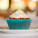 Cupcake on plate Stock Photo