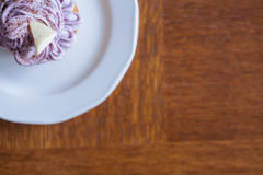 Cupcake on the plate Royalty Free Stock Image
