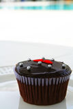 Cupcake poolside Stock Image
