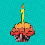 Cupcake pop art Stock Photos