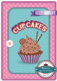Cupcake poster. Retro Vintage design Royalty Free Stock Images
