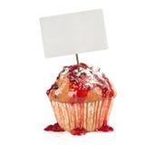 CupCake with price tag Royalty Free Stock Image