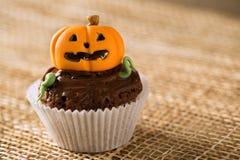 Cupcake pumpkin. Happy halloween holiday Stock Image