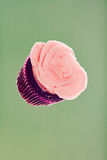 Cupcake. Raspberry cupcake floating in space Royalty Free Stock Image