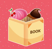 Cupcake  recipe book Stock Photos