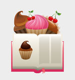 Cupcake recipe book Royalty Free Stock Photography