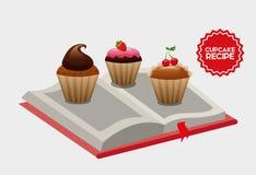 Cupcake  recipe book Stock Images