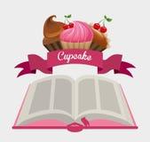 Cupcake recipe book Stock Photography