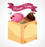 Cupcake  recipe book Royalty Free Stock Photos
