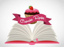 Cupcake  recipe book Royalty Free Stock Photography