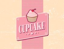 Cupcake retro design Royalty Free Stock Photos