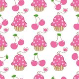 Cupcake retro fabric Royalty Free Stock Photos