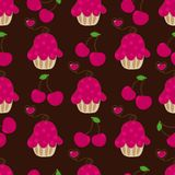 Cupcake retro fabric Stock Photo