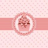 Cupcake ribbon and hearts stock photography