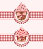 Cupcake ribbon Stock Photo