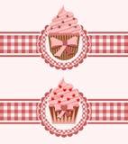 Cupcake ribbon stock photo