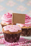Cupcake with rose Stock Photo