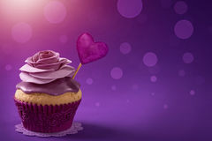 Cupcake with rose Royalty Free Stock Image