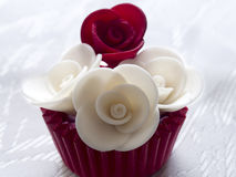 Cupcake with roses Royalty Free Stock Images