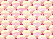 Cupcake seamless vector illustration