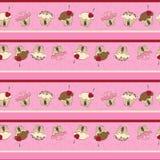 Cupcake seamless background Stock Image