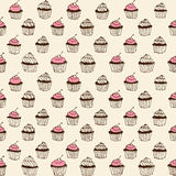 Cupcake seamless Royalty Free Stock Images