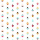 Cupcake seamless pattern. Stock Photo