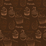 Cupcake seamless Royalty Free Stock Photo