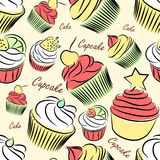 Cupcake seamless Royalty Free Stock Image
