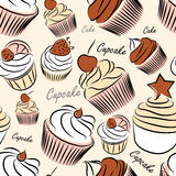 Cupcake seamless Stock Photos