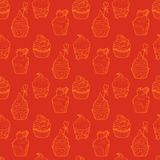 Cupcake seamless pattern Stock Images