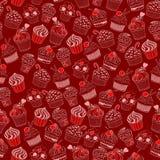 Cupcake seamless pattern Stock Photography