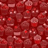Cupcake seamless pattern Stock Image