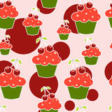 CupCake seamless pattern Stock Images