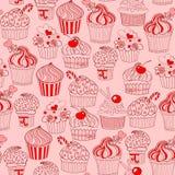 Cupcake seamless pattern Stock Photos