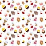 Cupcake Seamless Texture Stock Photo