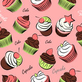 Cupcake seanless Royalty Free Stock Images