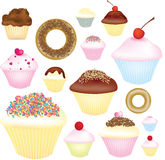 Cupcake selection Stock Photos