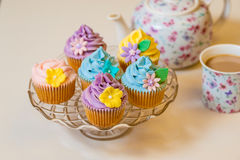 Cupcake selection in pastel colors Royalty Free Stock Photo
