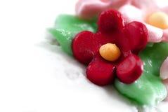 Cupcake Series 03. Close up Capture on Sugar and Cream Made Flower Cupcake Stock Image