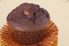 Cupcake. Served on golden plate Royalty Free Stock Photography
