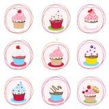 Cupcake set Royalty Free Stock Photo