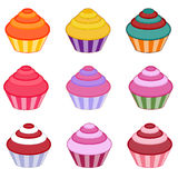 Cupcake set Royalty Free Stock Image