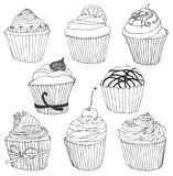 Cupcake set Stock Image