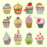 Cupcake set Royalty Free Stock Photography